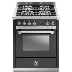Aragaz Steel Ascot, 70X60cm, 4 arzatoare, cuptor electric multifunctional, timer, aprindere electronica, mov