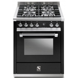 Aragaz Steel Ascot, 70X60cm, 4 arzatoare, cuptor electric multifunctional, timer, aprindere electronica, crem