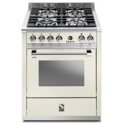 Aragaz Steel Ascot, 70X60cm, 4 arzatoare, cuptor electric multifunctional, timer, aprindere electronica, negru