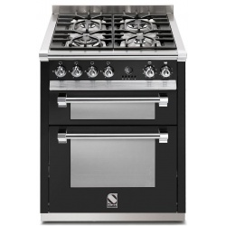 Aragaz Steel Ascot, 70X60cm, 4 arzatoare, cuptor dublu electric multifunctional, timer, aprindere electronica, crem