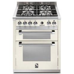 Aragaz Steel Ascot, 70X60cm, 4 arzatoare, cuptor dublu electric multifunctional, timer, aprindere electronica, negru