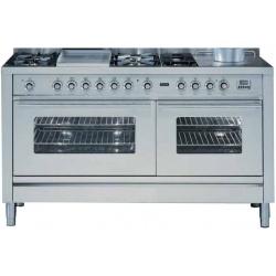 Aragaz ILVE Profesional Line P150, 150X60cm, 6 arzatoare, 2 cuptoare electrice, timer, aprindere electronica, inox