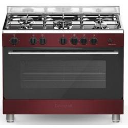 Aragaz Bompani Essential BO697EB/N, 90x60 cm, cuptor gaz, 5 arzatoare, aprindere electronica, grill electric, negru mat