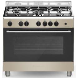 Aragaz Bompani Essential BO699EB/N, 90x60 cm, cuptor gaz, 5 arzatoare, aprindere electronica, grill electric, grena