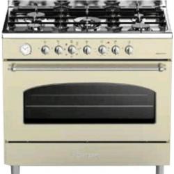 Aragaz Bompani Belle Epoque Premium BO687AA/N, 90x60 cm, plita gaz, 5 arzatoare, aprindere electronica, grill, negru mat