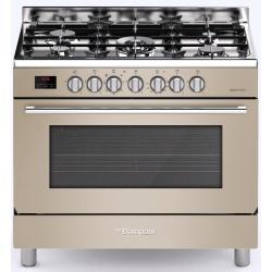 Aragaz Bompani Tech BO683DD/N, 90x60 cm, plita gaz, 5 arzatoare, aprindere electronica, grill, inox
