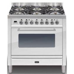 Aragaz ILVE Profesional line P90, 90X60cm, 6 arzatoare, cuptor electric, timer, aprindere electronica, negru