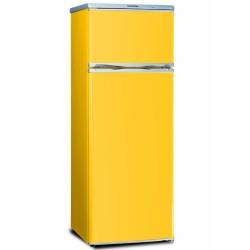 Combina frigorifica Severin KS9786,A +,208 kWh/an,frigider:166 litri /congelare:46 litri,galben