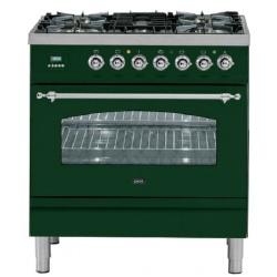 Aragaz ILVE Nostalgie Profesional line PN80, 80X60cm, 5 arzatoare, cuptor electric, arzator peste, aprindere electronica, negru