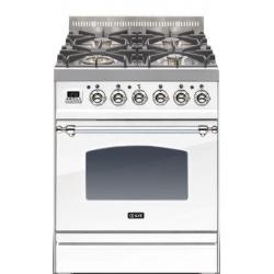 Aragaz ILVE Nostalgie Profesional line PN60, 60X60 cm, 4 arzatoare, cuptor electric, timmer, aprindere electronica, alb