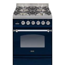 Aragaz ILVE Nostalgie Profesional line PN60, 60X60 cm, 4 arzatoare, cuptor electric, timmer, aprindere electronica, albastru