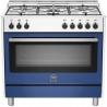 Aragaz Bertazzoni La Germania Prima PRM905XE, 90x60 cm, 5 arzatoare gaz , cuptor electric, aprindere electronica, albastru