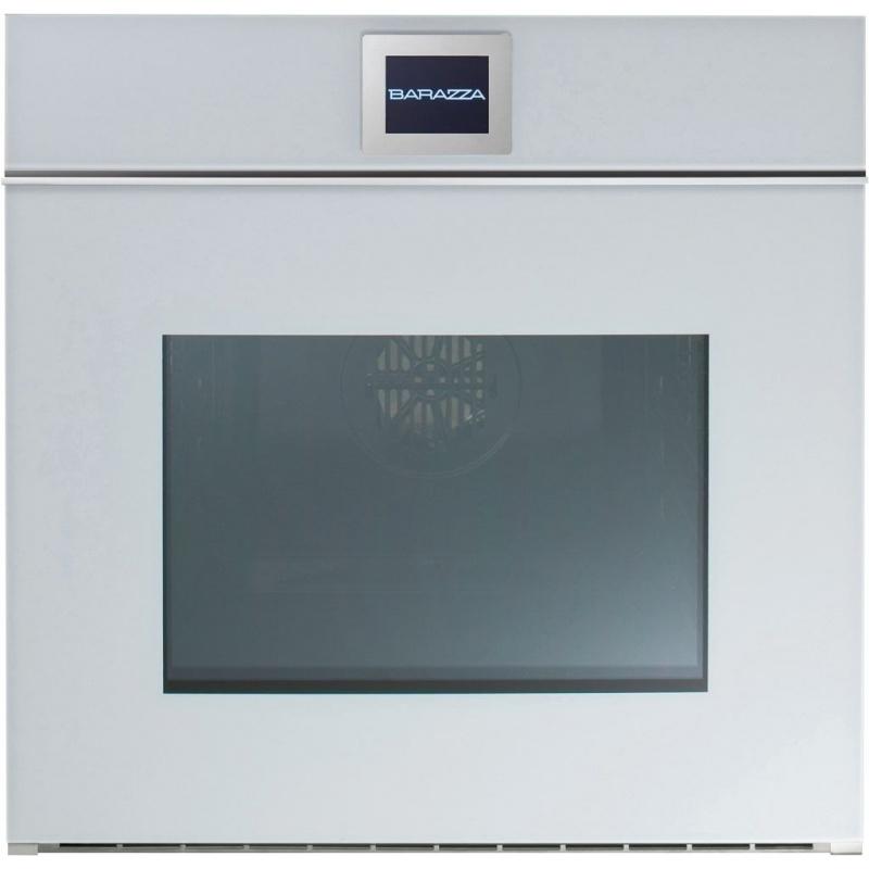 Cuptor incorporabil Barazza Velvet 1FVLTBM 60 cm 65l touch screen deschidere manuala convectie alb