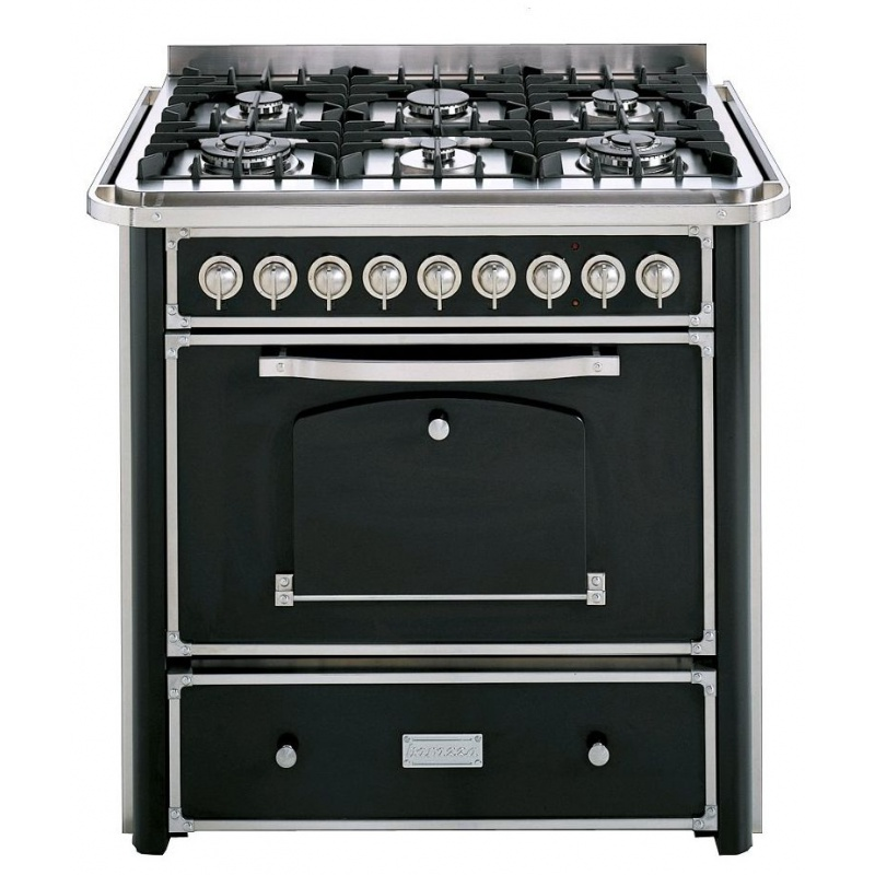 Aragaz Barazza Classica 1B90M6ANIM 90x65 cm 6 arzatoare gaz cuptor electric aprindere electronic antracit/inox