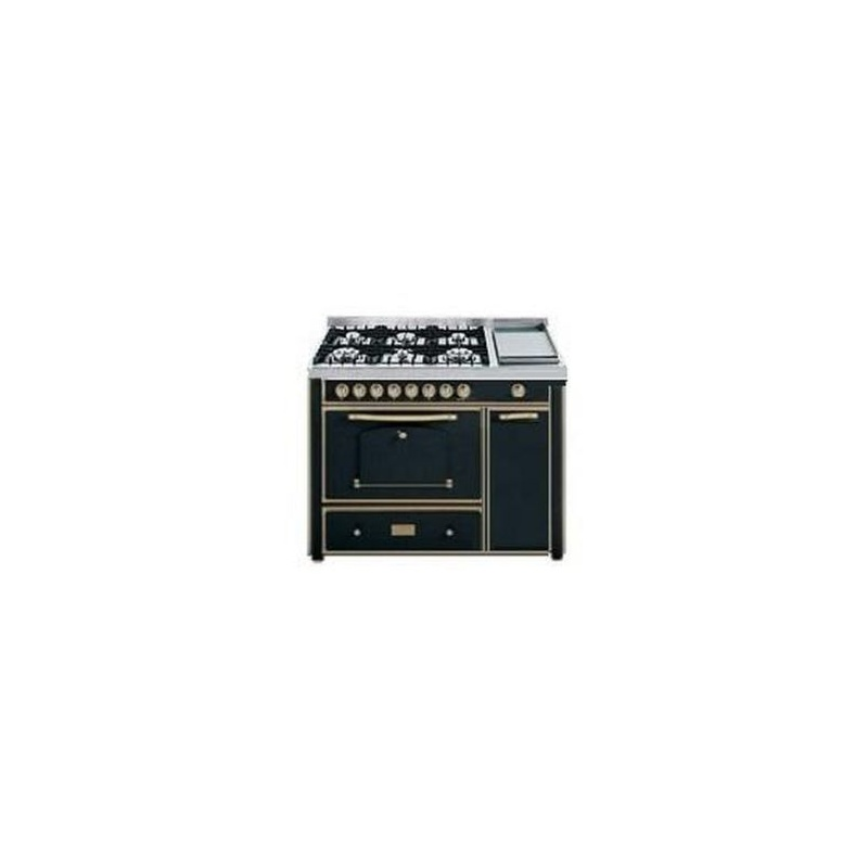 Aragaz Barazza Classica 1B120ANO 123x65 cm 6 arzatoare gaz Tepanyaki cuptor electric aprindere electronica antracit/alama