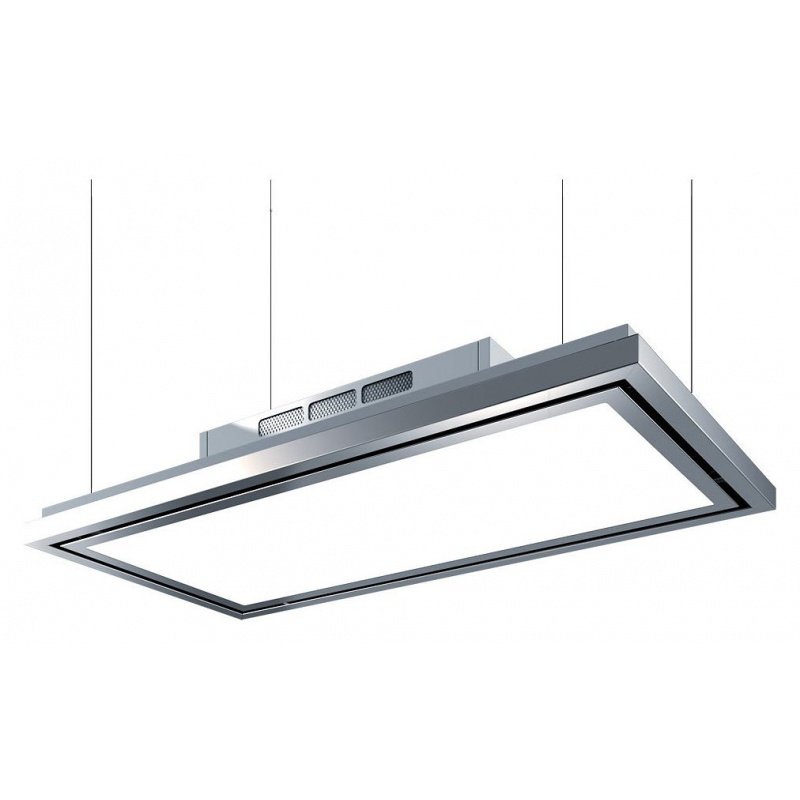 Hota de tavan Baraldi Flexia free 01FLEFR120WH90, 120 cm, 900 m3/h, inox / alb