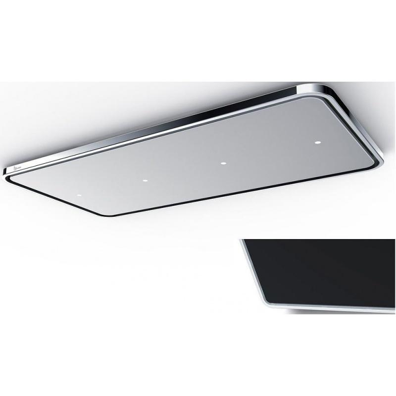 Hota de tavan Baraldi Nota Ceiling 01NOTSO0120BL flat box 1300, 120 cm, 1300m3/h, crom/negru
