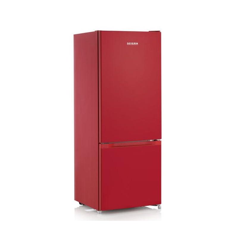 Combina frigorifica SEVERIN KGK 8972, clasa A ++, 144 cm, 173 kWh / an , frigider 154 L, congelator 52 L, Low Frost, rosu