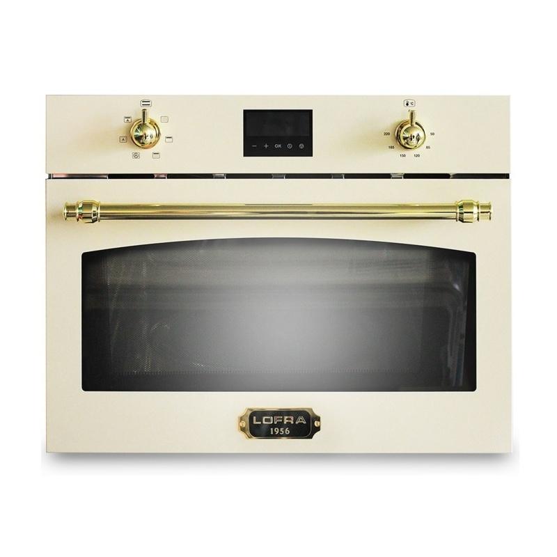 Cuptor cu microunde incorporabil Lofra Dolce Vita, 60x46cm, 6 functii gatire, 38 l, gril, crem
