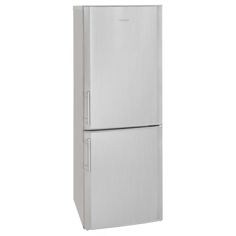 Combina frigorifica Exquisit KGC 270/70-4.2 A++ si, clasa energetica A++, volum net 190 L, No Frost, Argintiu