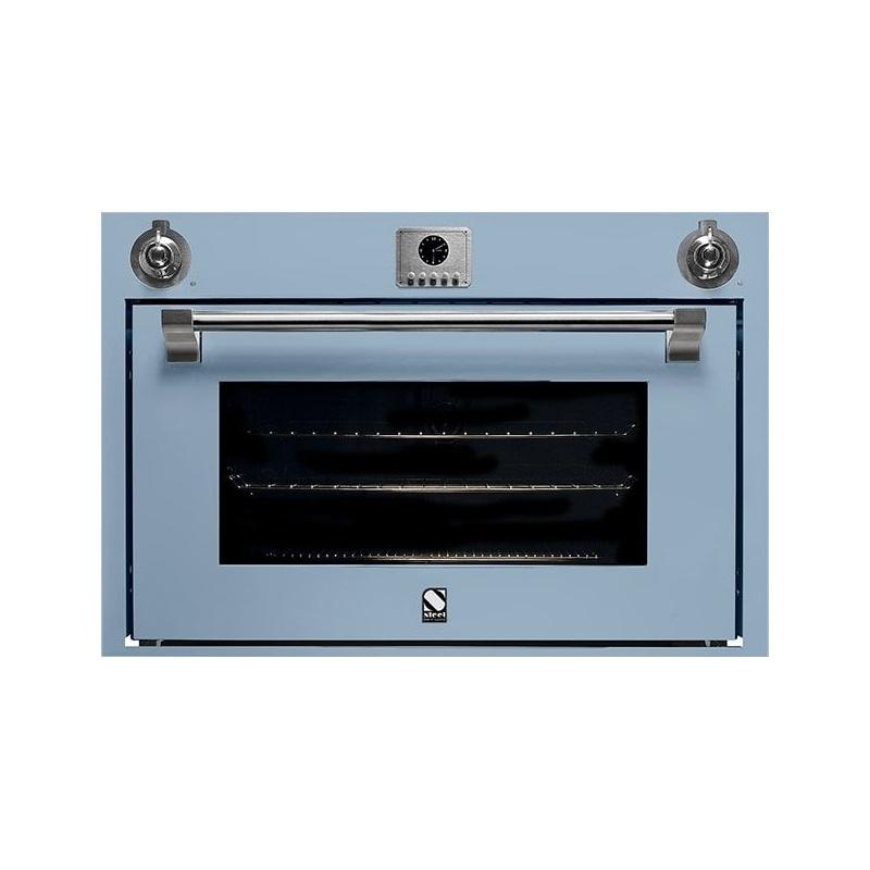 Cuptor electric incorporabil STEEL ASCOT, 90 cm, 91 lt, 9 functii de gatire, grill electric, convectie, rotisor, albastru