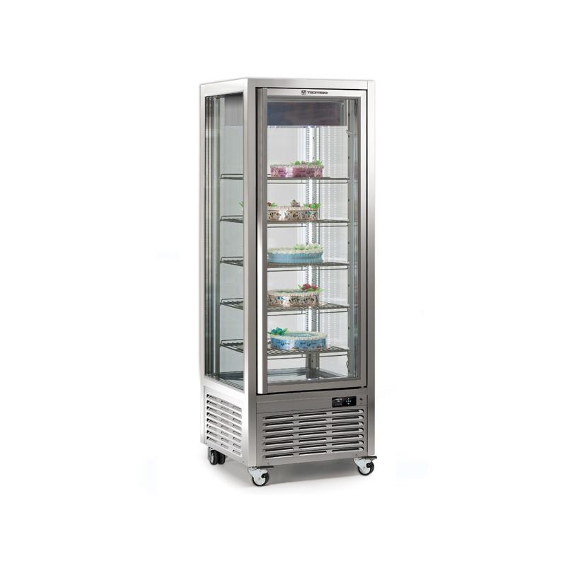 Vitrina frigorifica de cofetarie Tecfrigo DIVA 450 BTV-INVERTER, capacitate 450 l, temperatura -15/-21°C, argintiu