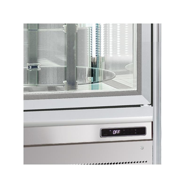 Vitrina frigorifica de cofetarie Tecfrigo Snelle 351 G, capacitate 350 l, temperatura +4/+10°C, argintiu