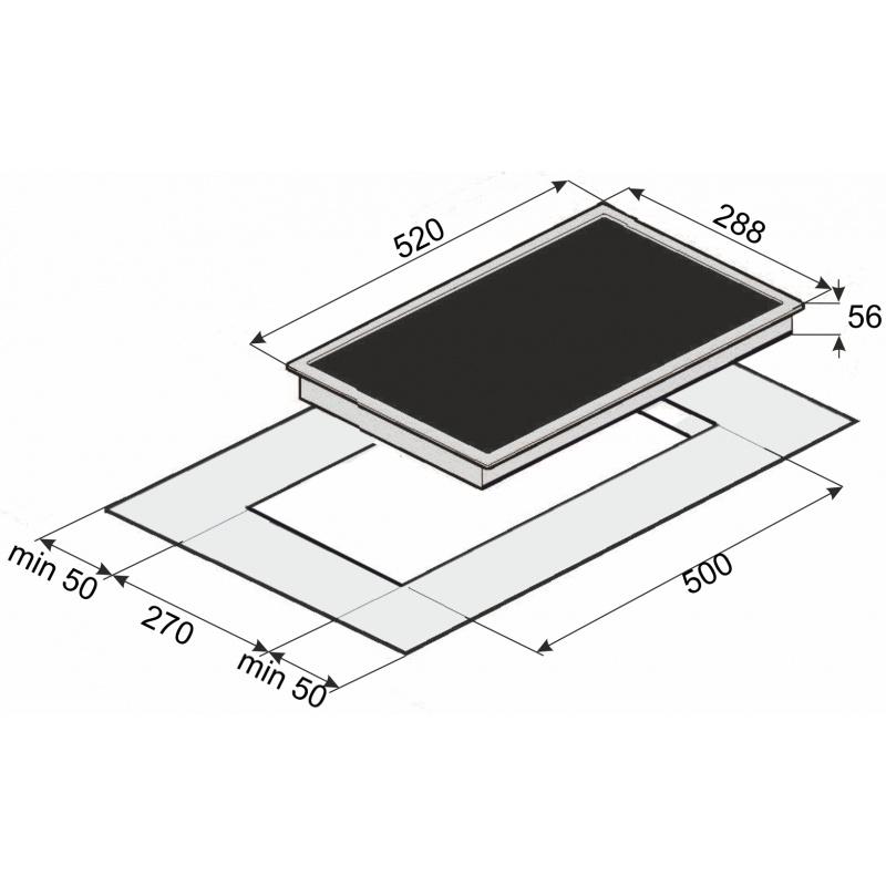 Plita incorporata cu inductie Exquisit EKI-Duo-1 R, 30 cm, 9 niveluri de putere, Sticla neagra