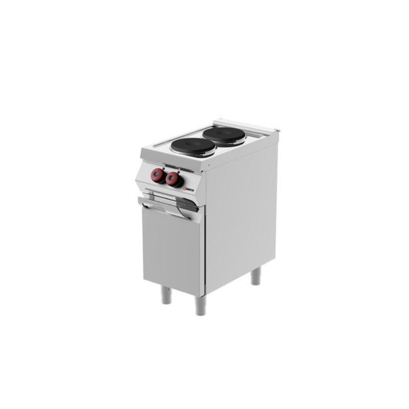 Masina de gatit pe electrica Desco Italia, YAMPE071MA0 cu 2 plite rotunde si dulap neutru