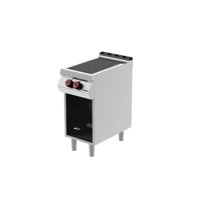 Masina de gatit pe electrica Desco Italia, YAMIR071M00 cu plita vetroceramica cu 2 zone de coacere