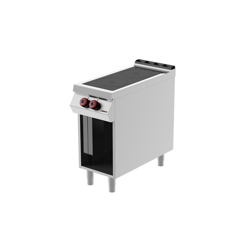Masina de gatit electrica Desco Italia, IR091M0, cu plita vetroceramica, 2 zone de coacere