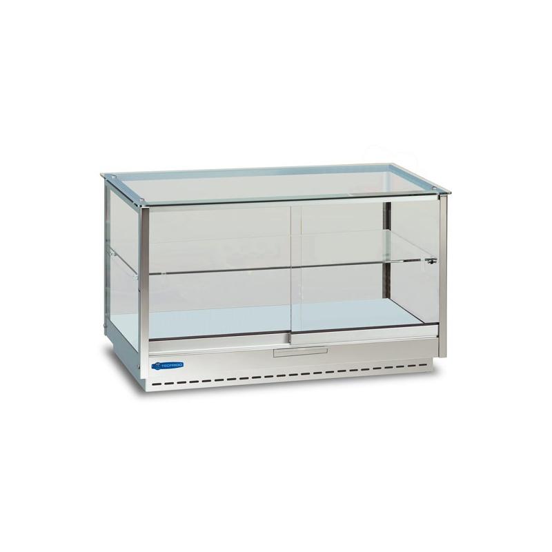 Vitrina calda Tecfrigo LINUS 642 DRY, capacitate 100 L, temperatura +30/+65º C, argintiu