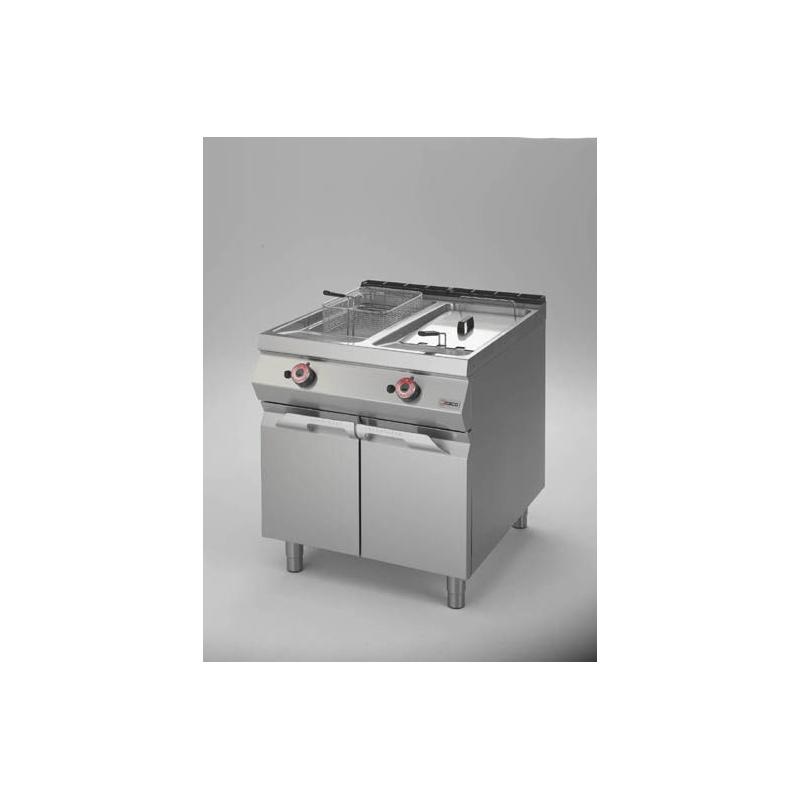 Friteuza simpla Desco Italia, FRG92M0 gaz, capacitate 19,5+19,5 litri