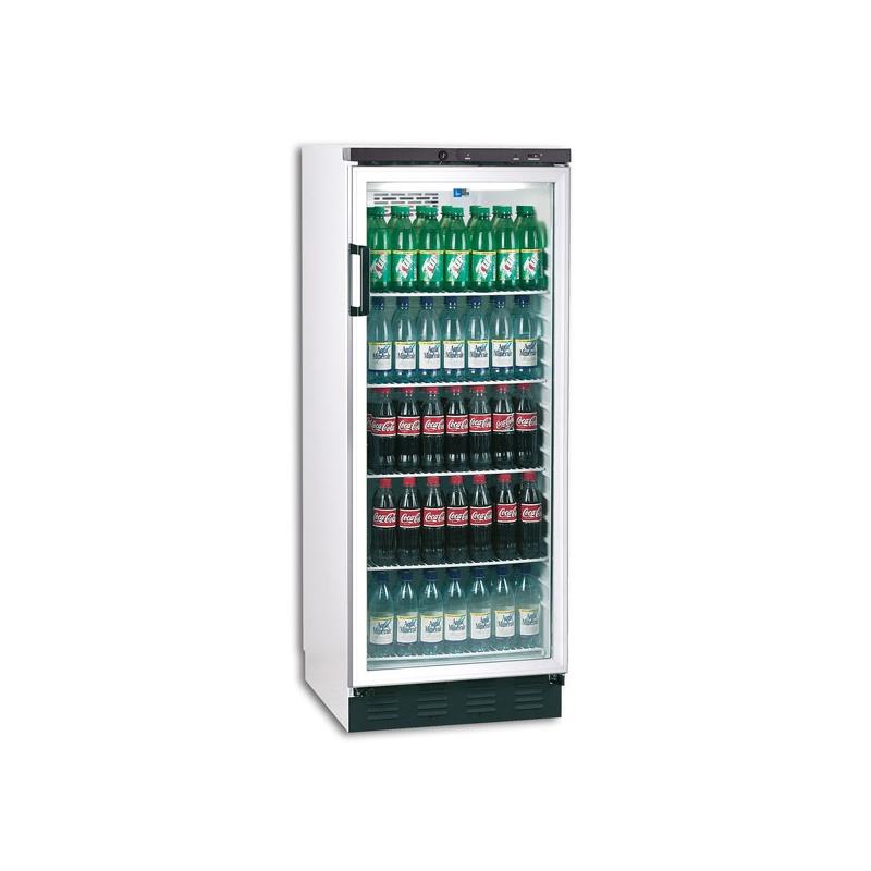 Vitrina frigorifica bauturi Tecfrigo FKG 311, capacitate 281 L, temperatura +3/+10º C, alb