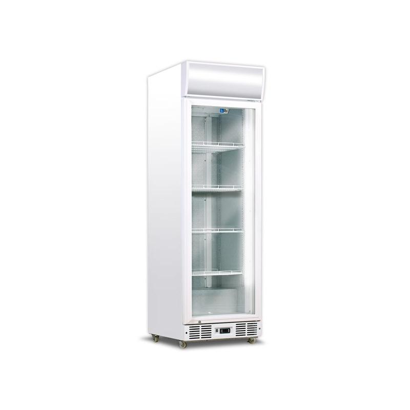 Vitrina frigorifica bauturi Tecfrigo C 450 GC, cu caseta luminoasa, capacitate 420 L, temperatura +3/+10º C, alb