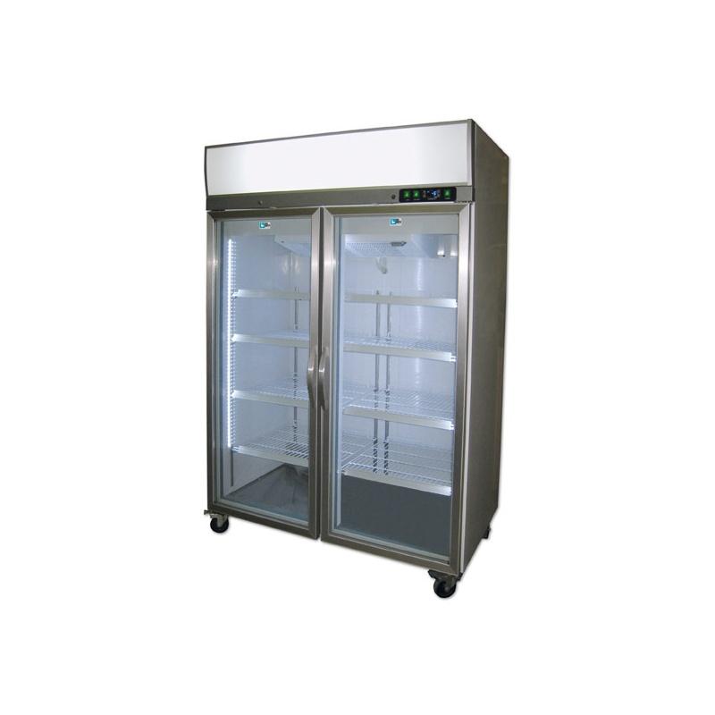 Vitrina frigorifica Tecfrigo ARTICA 580 NT, cu caseta luminoasa, capacitate 525 L, temperatura -18/-24º C, inox