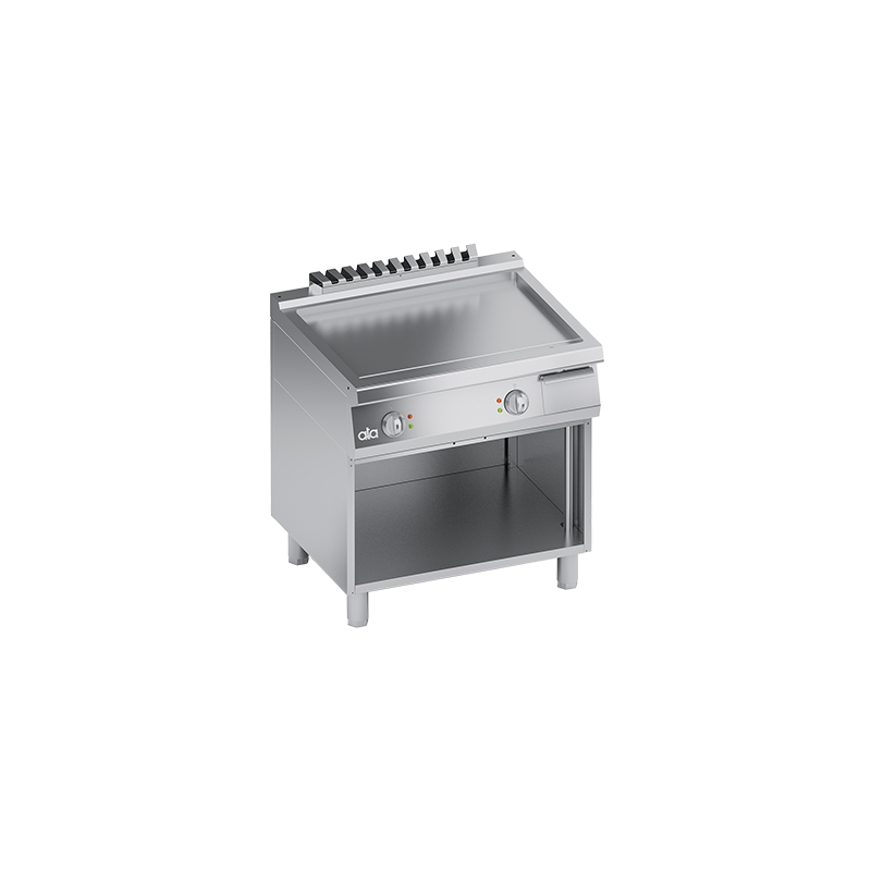 Grill dublu electric, Ata Italia K7EFB10VVL , seria 700 cu suprafata neteda cu suport deschis