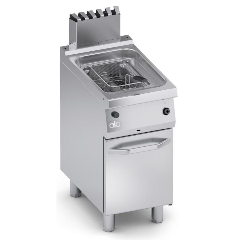 Friteuza simpla pe gaz, Ata Italia C2GFG0512 ,seria 700 cu suport inchis, 12 L