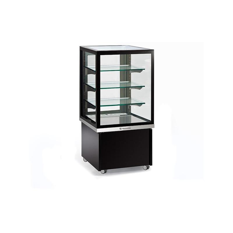 Vitrina frigorifica pentru ciocolata Tecfrigo KARINA 67 Q, capacitate 255l, temperatura +14/+16 ºC, negru