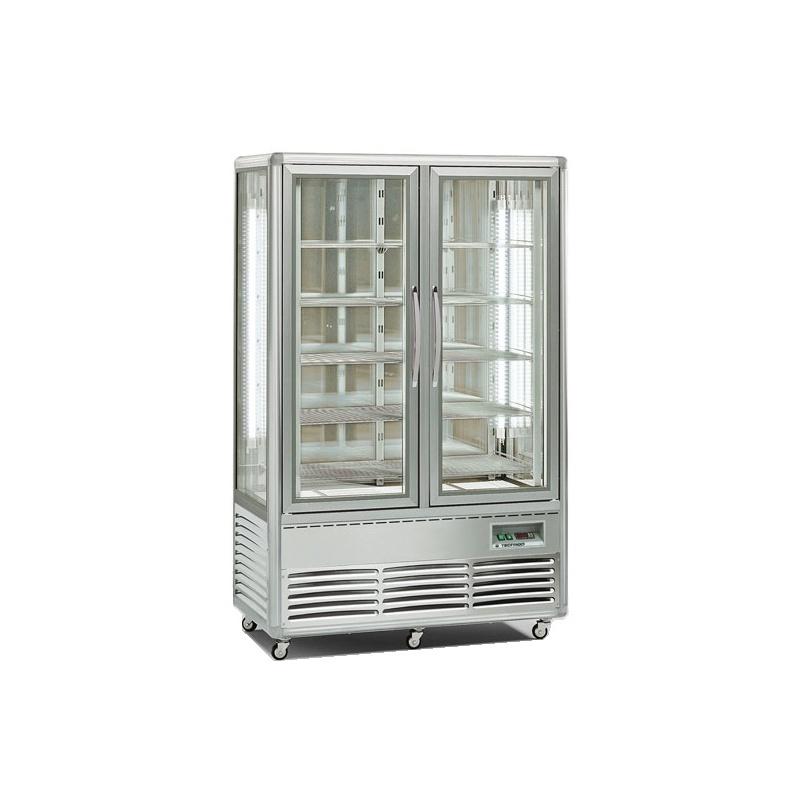 Vitrina frigorifica cofetarie Tecfrigo Snelle 700 BTV BIS, 2 usi, capacitate 700l, temperatura +5/-18 ºC, argintiu