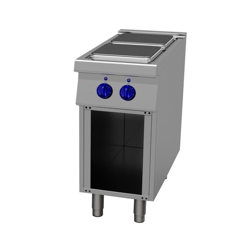 Masina de gatit electrica, Primax Italia, MG0110, cu 2 plite patrate si suport deschis