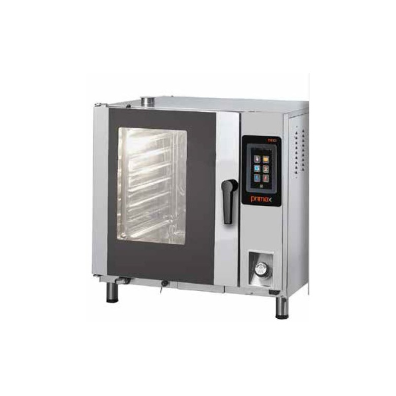 Cuptor gaz cu convectie Primax Italia, BTG106, pentru gastronomie Nexo, 6 tavi GN 1/1 cu BOILER, touch screen