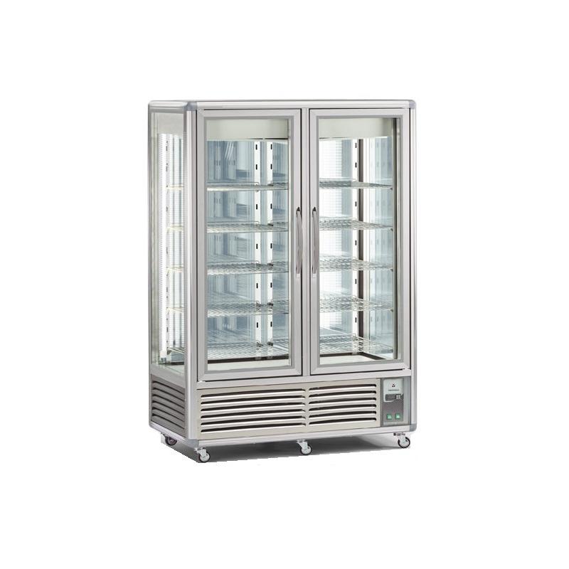 Vitrina frigorifica Tecfrigo Snelle 1100 GBT-GS, 2 usi, capacitate 1100l, 2 zone temperatura +4+10/ -10 -19 ºC, argintiu