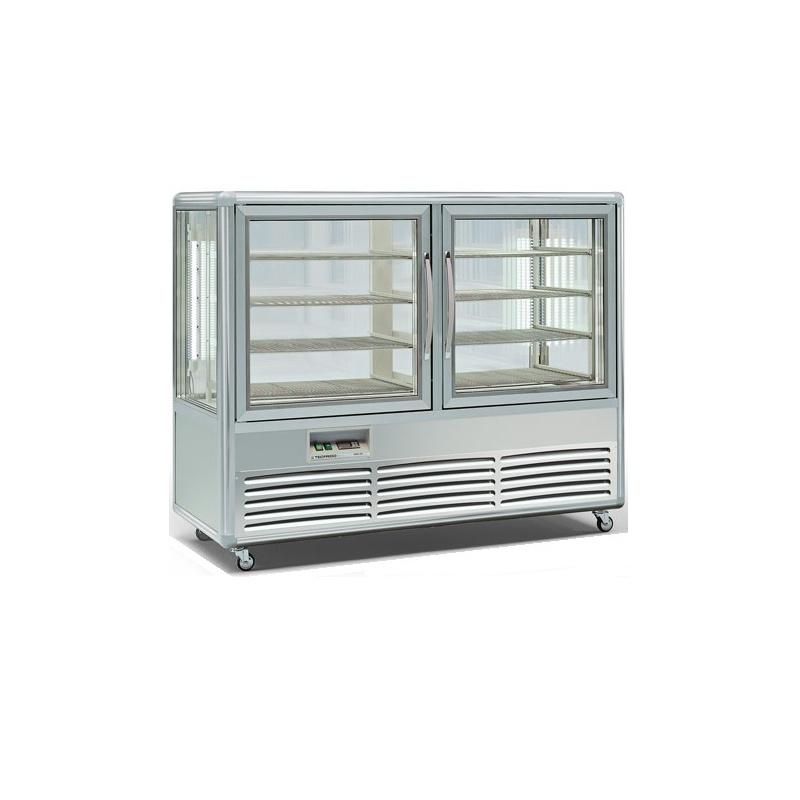 Vitrina frigorifica orizontala Tecfrigo Snelle 500 GBT, 2 usi, 500l, temperatura -10/-19 ºC, argintiu