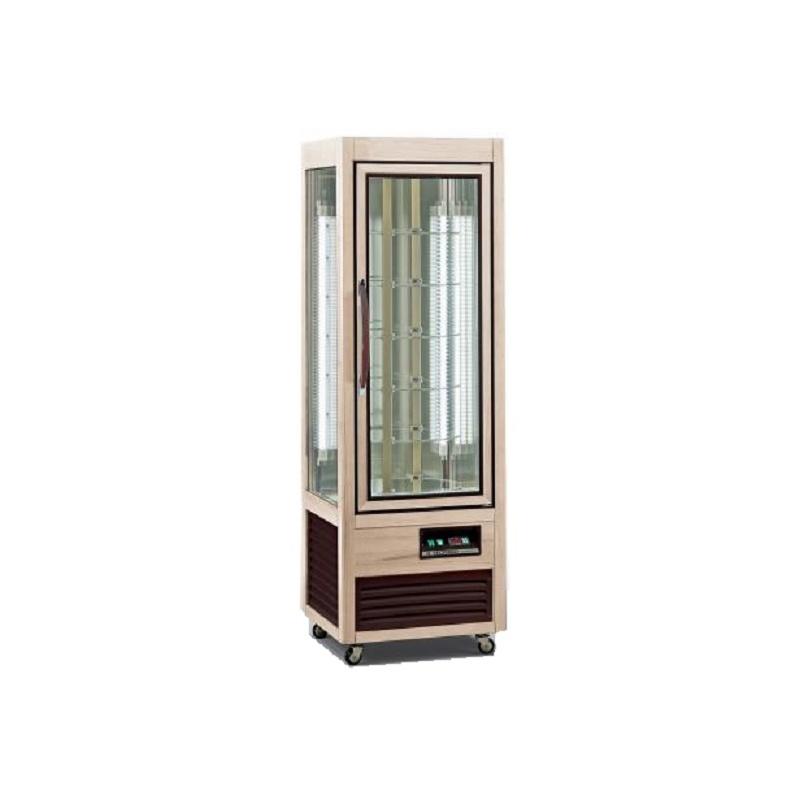 Vitrina frigorifica cofetarie Tecfrigo Saloon 350 R, capacitate 350l, temperatura +4/+10 ºC, lemn natur