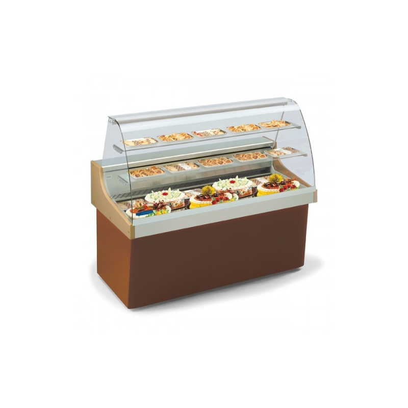 Vitrina frigorifica pentru ciocolata Tecfrigo Focus 120 Ciocco, temperatura +14/+16ºC, maro/alb