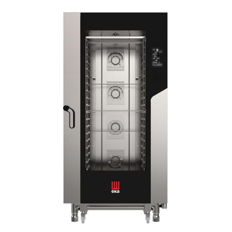 Cuptor electric gastronomic Eka Italia, MKF 2011 TS combi MILLENNIAL 20 tavi, control digital