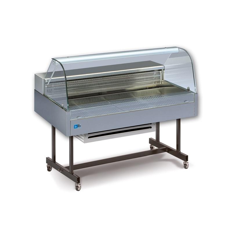 Vitrina frigorifica de expunere Tecfrigo COIBA 110 COLD, putere 270W, temperatura -1/+6°C, inox