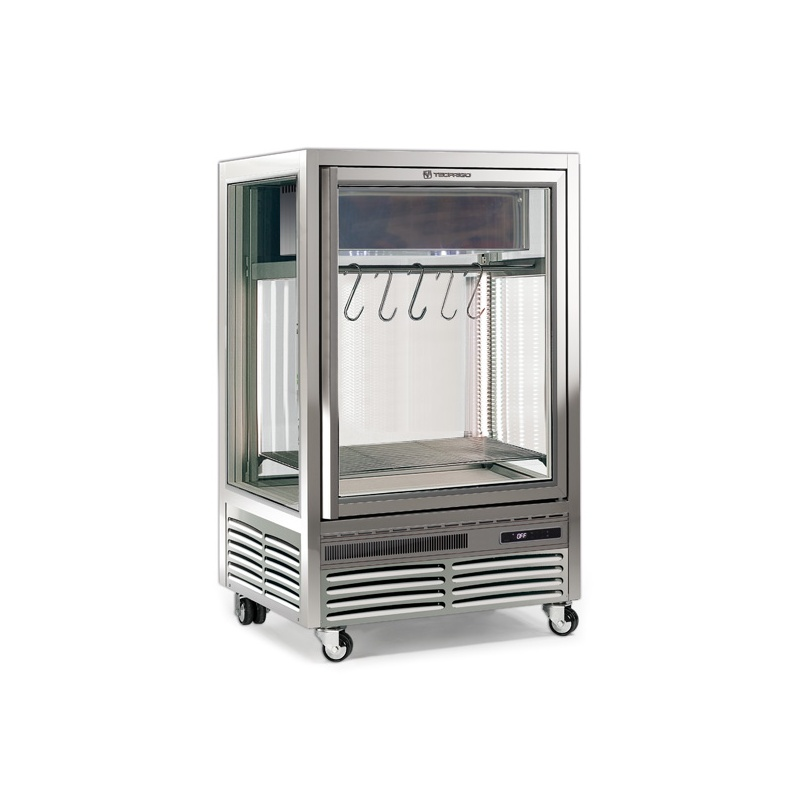 Vitrina frigorifica Tecfrigo MEAT 275, pentru specialitati din carne, capacitate 275 l, temperatura +1/+6 ºC, argintiu
