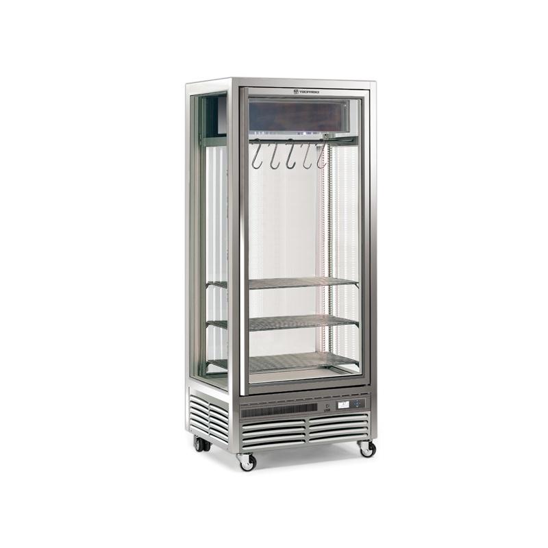 Vitrina frigorifica Tecfrigo MEAT 551 DA, pentru specialitati din carne, capacitate 550 l, temperatura +1/+2 ºC, argintiu